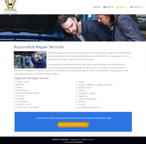 Automobile Repair Page